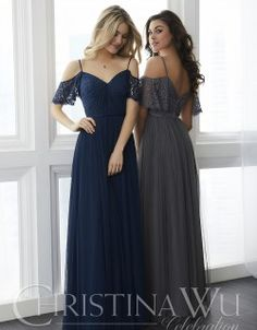 DressilyMe Bridal Dresses Online,Wedding Dresses Ball Gown, delicate tulle lace spaghetti straps neckline floor length a line bridesmaid dresses with belt Bridesmaid Dresses 2018, Straps Prom Dresses, Lace Bridesmaids, Lace Party Dresses, Tulle Dress, Homecoming Dresses, Lace Dress, Evening Dresses, Wedding Dresses
