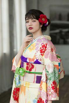 #成人式 着物 振袖 Kimono Furisode/小松菜奈 Nana Komatsu