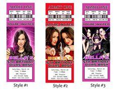 WWE Divas Ticket Invitation / WWE Ticket by DigitalWorld1 on Etsy