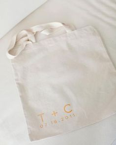 The Welcome Tote  Tote bags printed with the couple's initials and wedding date were filled with water bottles, sunscreen, Advil, Evian spray, snacks, a welcome booklet, a map, a guide to fellow guests, and the weekend's schedule of events.