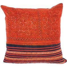 Vintage Hmong textile pillow