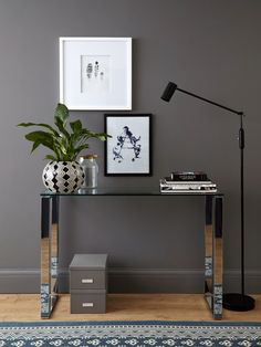 Tiva Glass and Chrome Console Table from Danetti.