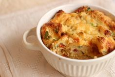A fancy name for a savory bread pudding, this sausage and sun dried tomato strata is amazing stuff. Comfort food at its best.