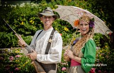 Terry and Mandi will greet you at Silver Dollar City, Branson, MO