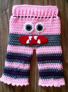 Crochet monster Pants