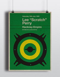 Lee Scratch Perry miniposter  mid century / by TheStereoTypist, £10.00