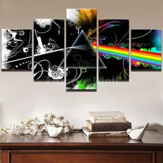5Pc/Set No Framed Canvas Prints Painting Home Art Deco Wall Picture Flash-L