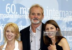 Scarlett Johansson, Bill Murray and Sofia Coppola during 2003 Venice Film Festival - 'Lost