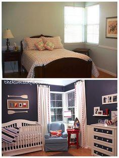 Baby's Nautical Bedroom REVEAL! - The Kim Six Fix