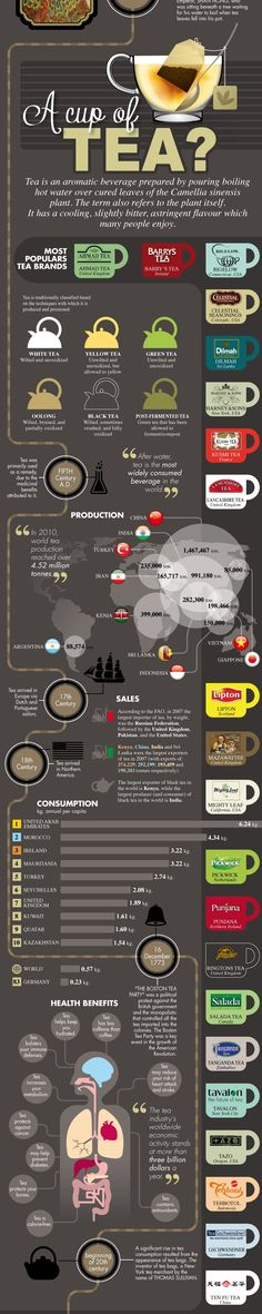 A Cup of Tea Infographic