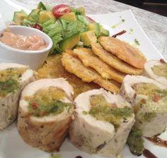 Pechuga de pollo rellena de amarillos - Chef Edgardo Noel