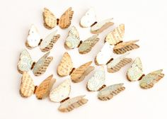 12 Antiqued LAYERED BUTTERFLIES with a Touch of by PapersAndPetals