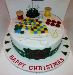 A right Christmas sew & sew....  Cake by Jan