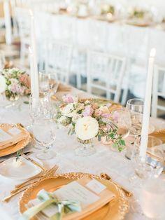 Blush, Sage Green, and Gold Wedding Decor |  Bradley James Photography