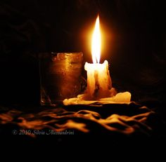 Candle light in the night