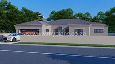 3 Bedroom House Plan – My Building Plans South Africa Round House Plans, Tuscan House Plans, My House Plans, Family House Plans, Village House Design, Village Houses, My Building, Building Plans, House Plans South Africa