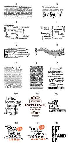 DeRemate.com.ar: Vinilos Decorativos - Arma Tu Frase - Escribe Paredes - $…