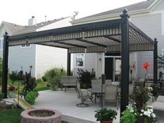 Charming Adding Some Kind Of Rectractable/removable Awning To A Pergola Seems Like A  Good Way
