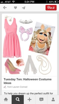 Wanna stand out this year? This cut Miss Piggy outfit 'ill do the trick!