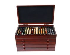 Mahogany Pen Display Cases - Lanierpens