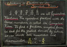 5th Grade: Math; Writing a Fraction in its Simplest Form