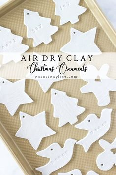 Diy Air Dry Clay Christmas Ornaments Step By Step Directions.- Diy Air Dry Clay Christmas Ornaments Step By Step Directions Clay Christmas Decorations, Christmas Clay, Handmade Christmas Gifts, Diy Christmas Ornaments, Christmas Projects, Holiday Crafts, Clay Ornaments, Christmas Ideas, Christmas Tree