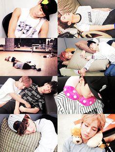 BTS Naptime (omg TaeTae so cute >w<)