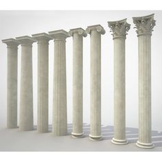 White Marble Decorative Greek Columns China Supplier - Stone2Buy.com Stone Pillars, Marble Columns, Engineered Stone, Tuscan Style, Corinthian, Ancient Greek, White Marble, Natural Stones, Granite