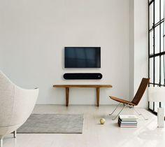 TV in minimalist living room