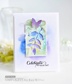 Die cuts dance across Simplicity Sister, Kay Miller's, card today. If you're looking to get even more design ideas from your Creative Dies, try using the negative die cut pieces, too, just as Kay h...
