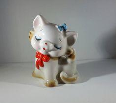Vintage Cat Bank, Kawaii Kitty Cat Bank, Vintage Porcelain Cat