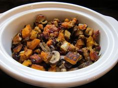 Buttercup Squash, Mushroom and Cranberry 'Stuffing'. Featuring produce from #lanayferme.