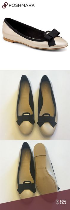 Gorgeous Sperry Patent Bow Flats So pretty and perfect for everyday! Cream patent leather with black bow accent. Brand new condition, never been worn! No trades!! 06916150gwpg Sperry Top-Sider Shoes Flats & Loafers