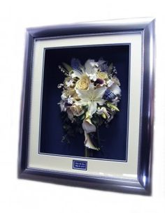 Freeze Dried Wedding Bouquet Professionally Framed