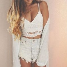 Fashion Ladies Women Sexy V-Neck Strap Floral Hollow Out Lace Slim Casual Crop Tops