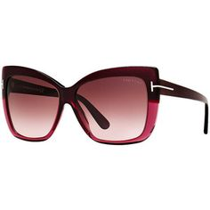 Tom Ford Ft0390 80b 59 Purple Butterfly Sunglasses