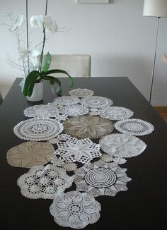 Custom MADE Table Runner Wedding Table Decoration by WHITEStardust, $86.00 by delores