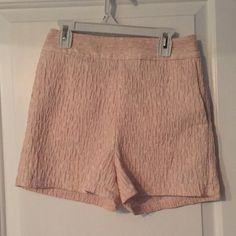 Express blush high waisted shorts Supper cute high waisted shorts bought at express. No flaws and are super cute with a lace crop top! Express Shorts