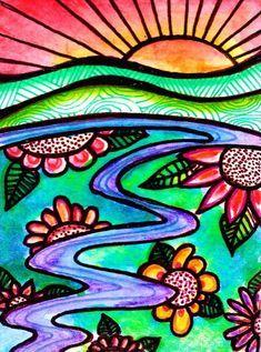 Sharpie art, sharpie drawings, watercolor and sharpie, glue art, grade art Design Poster, Art Design, Sharpie Drawings, Art Drawings, Sharpie Zeichnungen, Arte Sharpie, Poster Graphics, Glue Art, 5th Grade Art