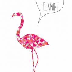 Plakat Triangle Animals - flamingg - NUNU BABA