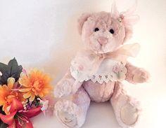 "Teddy Bear Stuffed Animal Pink Plush 13"" Jointed Bear Gund Bartons Creek Hildegard Gunzel Collectible"