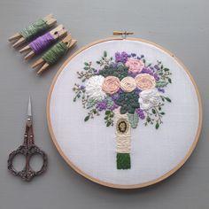 So much floral goodness. #bridalbouquet #embroideredbouquet