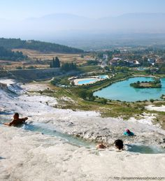 Photo courtesy of Wise Monkeys Abroad Where In the World? Pamukkale, Turkey - that's where.  These ancient baths are listed on the UNESCO World Heritage Sites.  I can't wait to go!