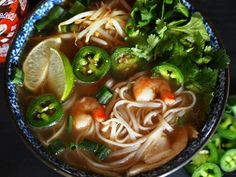 Perfectly healthy comfort food at it's finest, Pho is it for me! Easy to make at home. Comfort food at it's finest. Go for Pho! Soup Recipes, Great Recipes, Cooking Recipes, Favorite Recipes, Recipies, Vietnamese Street Food, Vietnamese Restaurant, Asian Recipes, Healthy Recipes