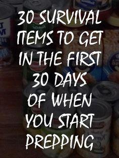 30 items to stockpile pinterest
