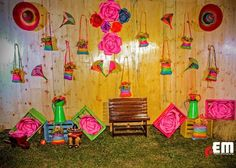 Decor # lights# effects # bride# groom flowers decor ideas by team the dream creation. Flower Decorations, Wedding Decorations, Holi Party, Mehndi Ceremony, Mehndi Decor, Wedding Events, Weddings, Winter Wonderland Wedding, Photo Booth Backdrop