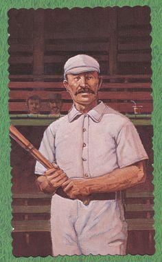 Buck Ewing baseball 1984 RGI Hall of Famers Deckle Edge card #24