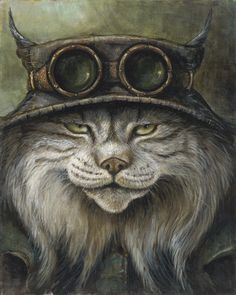 JACK FOGG BY JAYNE SIROSHTAN - Anthropomorphic cat portrait