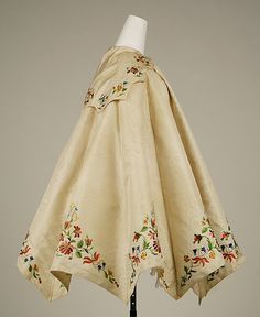 Cape, 1855, British, silk. Sections joined by piped seams.