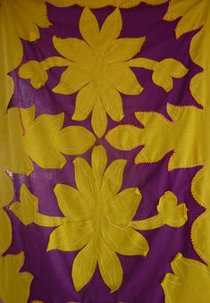 A Tivaevae in progress.Cook Islands quilters give these quilts as significant gifts to family